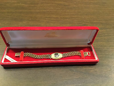 Vintage Dayton Power & Light Electric Co. Service Award Diamond Bracelet