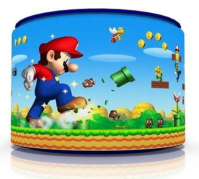 "Mario Bros  Kids  Ceiling Light Lamp Light Shade 11"" Gaming  Free  P & P"