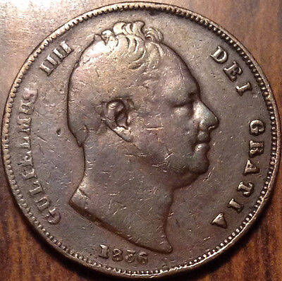 1836 Gb Uk Farthing Keydate In Good Condition !