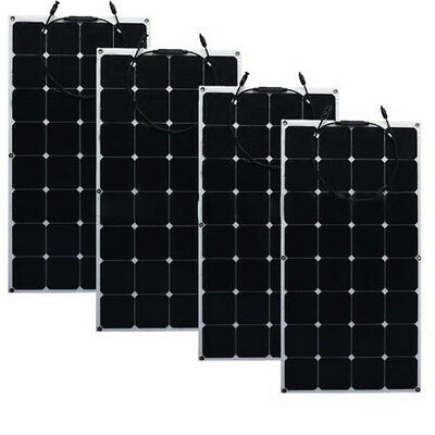 SunPower 100W Semi Flexible Mono Ultra Thin Car Boat Solar Panel Charger