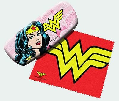 Wonder Woman Super Hero Eyeglass Reading Glasses Case and Lens Cloth