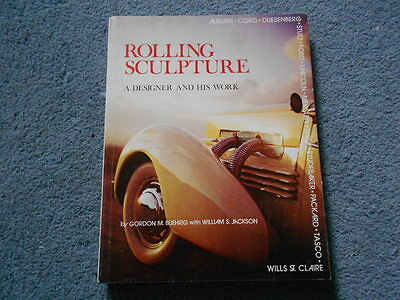 ROLLING SCULPTURE A DESIGNER AND HIS WORK BOOK by BUEHRIG & SIGNED SAE PROGRAM