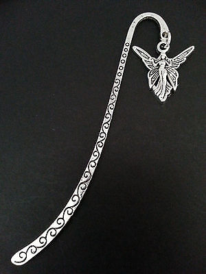 New Collectable Antique Silver Tone Metal Bookmark with Fairy Charm