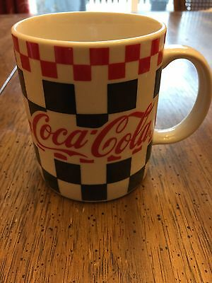 Nostalgic Collectible 1996 Gibson Coca Cola 12 Oz Mug Red & Black Checkered