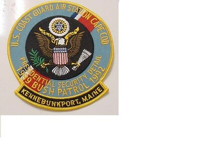 Presidential Security Detail Kennebunkport  Maine Patch Bush 1992-Us Coast Guard