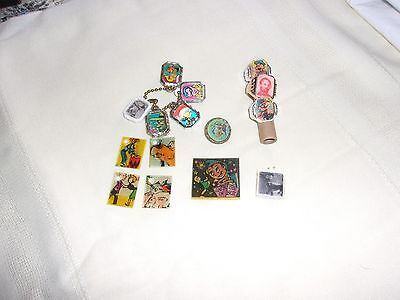 Vintage Gumball Charms Lot 15 Flickers and Rings mechanicals Cracker Jack??