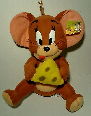 Hanna-Barbera Tom and Jerry. Jerry Mouse With  Cheese Plush Vintage Cartoons.
