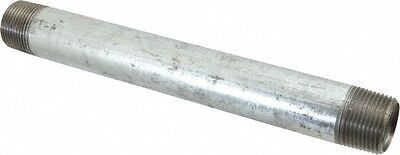 "1/2"" GALVANIZED MALLEABLE IRON 6""  LONG  NIPPLE fitting pipe npt 1/2 x 6"