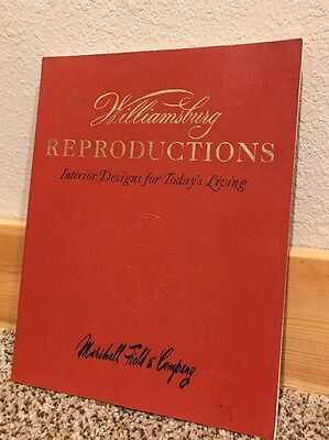 1973 Williamsburg Reproductions Interior Designs Marshall Field Paint Chips