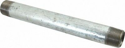"1/2"" GALVANIZED STEEL 12""  LONG  NIPPLE fitting pipe npt 1/2 x 12 malleable iron"