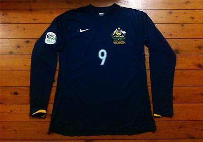 Australia Socceroos #9 Viduka 2006 Nike Match Issued Player Away Shirt Jersey Ls