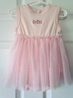 NWT Disney World Baby Girl Toddler Pink Princess Tutu One-Piece Size 12 Months