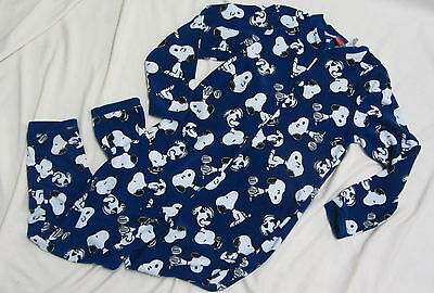 Snoopy/Peanuts Onesie Pajamas with open feet unisex adult S