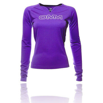 OMM Womens Purple Trail Breathable Long Sleeve Running Sports Top