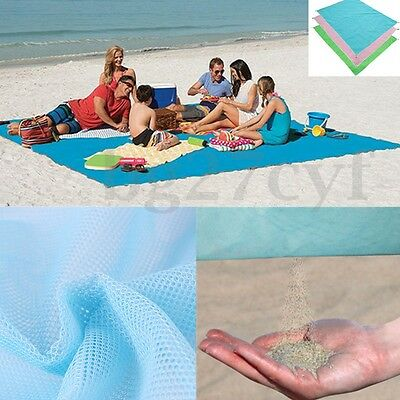 Quick Sand Free Camping Outdoor Picnic Travel BBQ Beach Mat Rug Blanket New AU