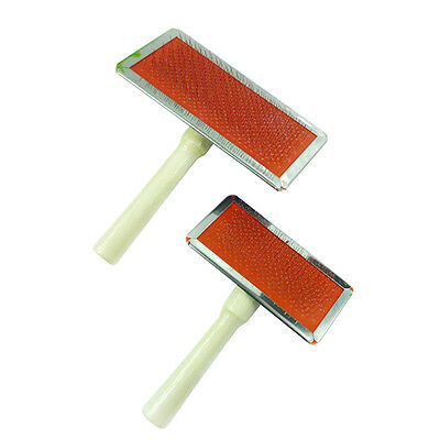 Dog Puppy Cat Hair Grooming Brush Comb Pet Fur Shedding Cleaning Slicker Tool