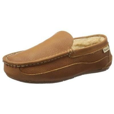Bearpaw 3756 Mens Baldwin Tan Leather Loafer Slippers Shoes 11 Medium (D) BHFO