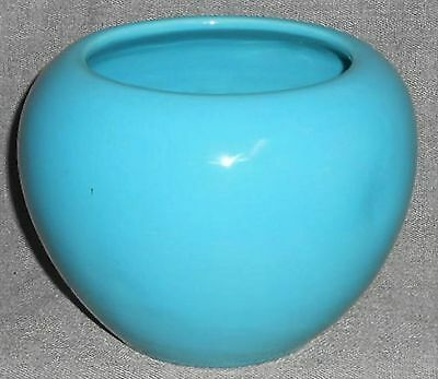 BAUER Art Pottery FRED JOHNSON Turquoise Color ROSE BOWL California