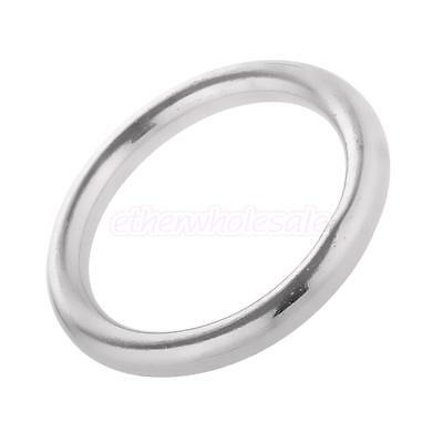 Welded Ring Stainless Steel O Round Rings Circle Craft Webbing Boat 1-2inch