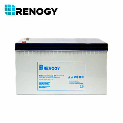 Renogy Deep Cycle Pure GEL Rechargeable 12 Volt 200Ah Battery for Solar Panels