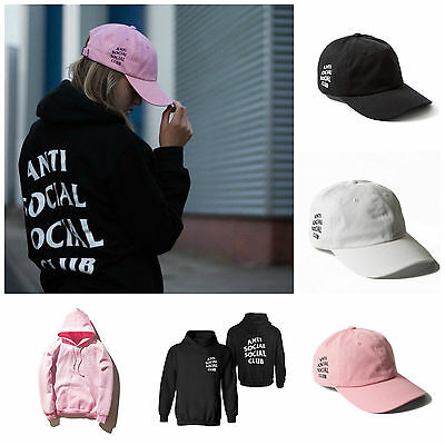 AntiSocial Social Club Hoodie Sweatshirt Anti Social Club Cap Hat Street Wear
