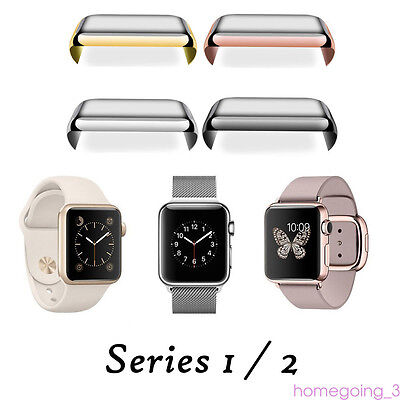 For Apple Watch Face Plating 38mm 42mm Dia Protective Case Cover Fitable