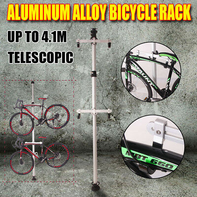 New 2 Bicycle Hanger Parking Rack Bike Storage Stand Heavy Duty Aluminum Alloy