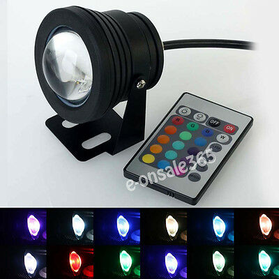 12V Underwater Light LED Spot Light 10W RGB Multicolor Lamp With Remote Control