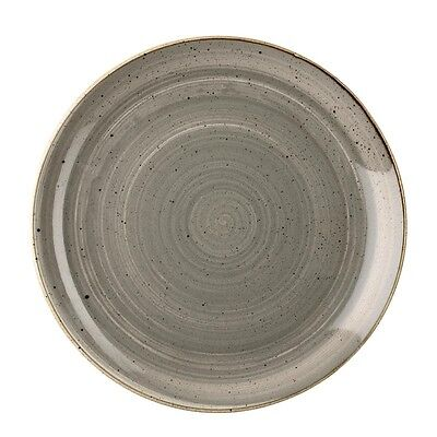 Churchill Stonecast Round Coupe Plates Peppercorn Grey 295mm