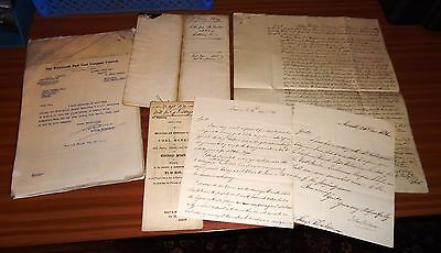 MINING Colliery COAL MINES Newcastle c1830s LETTERS Documents TO BE SOLD (45)