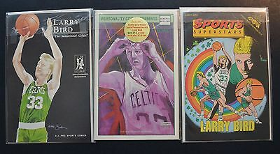 Larry Bird Comic Book lot of 3 Personality Sports Superstars All-Pro Celtics