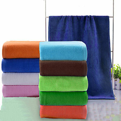 Large Microfibre Beach Bath Towel Sports Travel Camping Gym Lightweight 2PCS