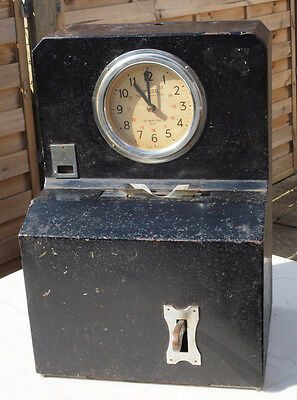 National Time Recorder Co Ltd. Vintage Clocking In Machine.