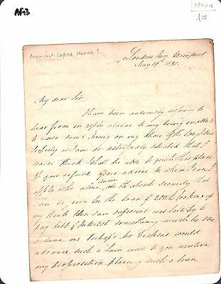 1830 GB 'London Inn Devonport' Coffee House Letter