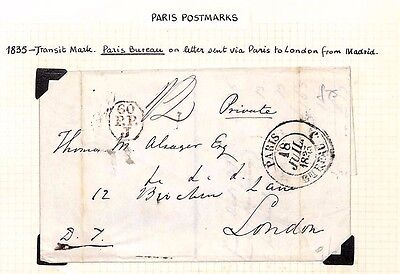 1835 HISTORIC LETTER Ref *Unrest in Spain* Contents Paris Bureau EL London
