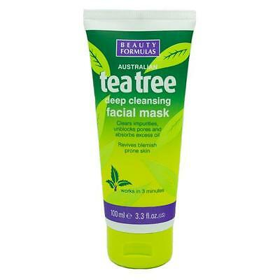 Tea Tree Deep Cleansing Facial Mask unblocks Pores 100ml SAMEDAY DISPATCH