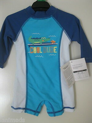BNWT- Long Sleeve CROCODILE Baby BOYS Swimwear Bathers Swimsuits 000 00  3-6m