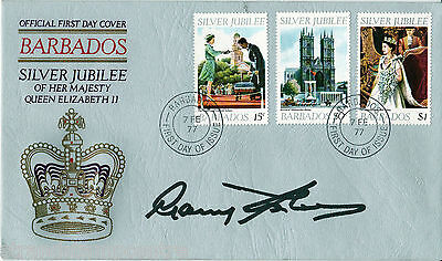 1977 Barbados - HM QEII Jubilee Set - Signed SIR GARFIELD SOBERS - SEE NOTES !