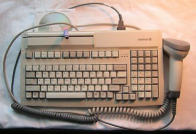 Cherry Keyboard MY 7000 with Card Reader and Symbol Scanner LS4000 POS