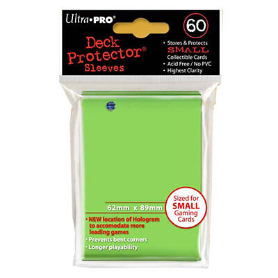 ULTRA PRO - Solid Lime Green Deck Protector Sleeves - Small Size - 10 packs NEW