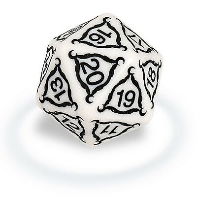 ULTRA PRO Dice - Titan 20-sided - 40mm Ivory NEW * Gaming Accessories