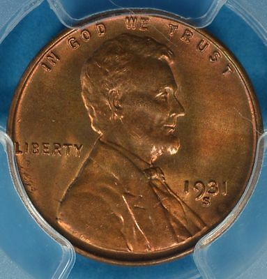 1931-S Lincoln Wheat Cent PCGS MS65RB- Nice Patina, Surfaces, Eye Appeal