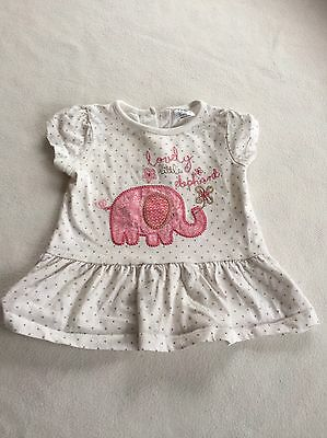 Baby Girls Clothes 0-3 Months -  Pretty Elephant Tunic T Shirt Top -