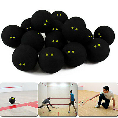 Competition Squash Ball Two-Yellow Dots Low Speed Official Sports Professional