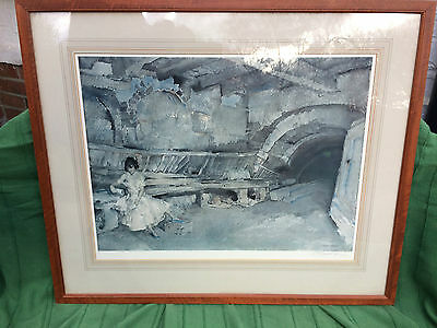 "Sir William Russell Flint limited edition signed print "" Secret Retreat """