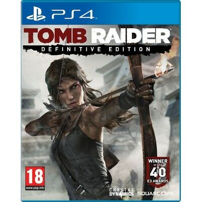 Tomb Raider Definitive Edition Game PS4 - Brand New!