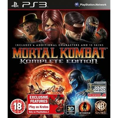 Mortal Kombat Komplete (Complete) Edition Game PS3 - Brand New!