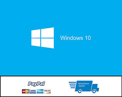 Licenza Windows 10 Pro Professional 32/64 Bit Codice Originale Esd Offerta