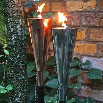 Pair Of Oil Burning Garden Lanterns - Olympic