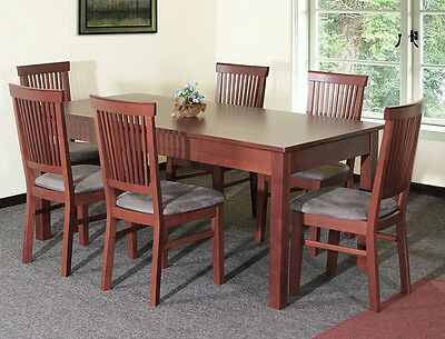 Dining set - wooden table and six chairs